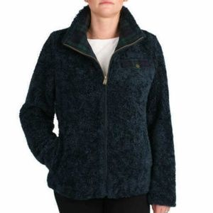 Pendleton Women's Fuzzy Full Zip Dark Blue Jacket